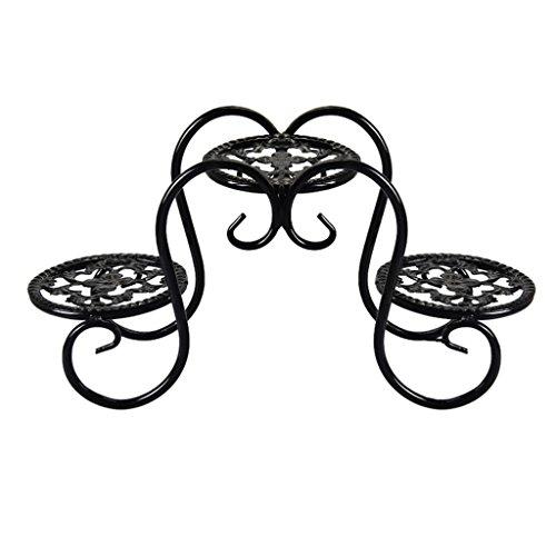 MLHJ NNIU- Étagère à Fleurs Étagère à Fleurs en Fer Étagère à Fleurs créative Étagère Simple Fer à Repasser 39 * 19 * 13cm Table de Salon au-Dessus du Jardin