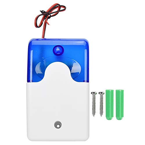 Strobe Light, 110dB LED-verlichting Bekabeld Hoorbaar en Aisual Sirene Geluidsalarm, Waarschuwingsveiligheid Knipperende zwaailichten, Waarschuwing Knipperende noodverlichting voor alarmsysteem voor h