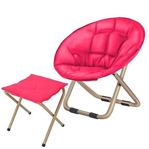 LSF Mobiler Mondstuhl Fauler Klappstuhl Tragbare zusammenklappbarer Moon Chair Angeln Camping Grill Hocker Folding Erweiterte Wandern Sitz Garten Ultra Office Home Möbel (Color : F)