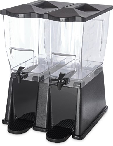 Carlisle 1085303 TrimLine Clear Economy Double Base, 7 gal. Capacity, Black
