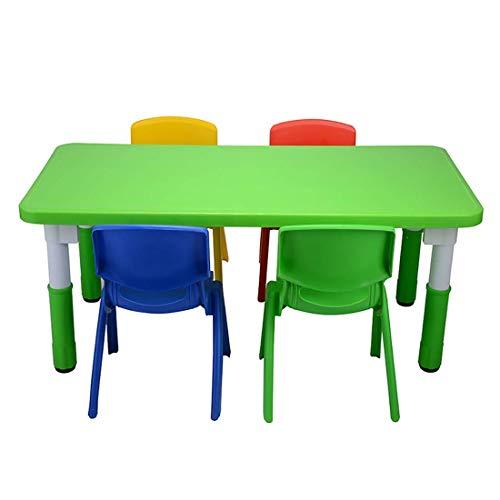 AJH Kinderarbeits-Tischset, pädagogische Kleinkindermöbel, 4 Stühle und 1 Aktivitätstisch für Kinder, ergonomisches Design, umweltfreundlich