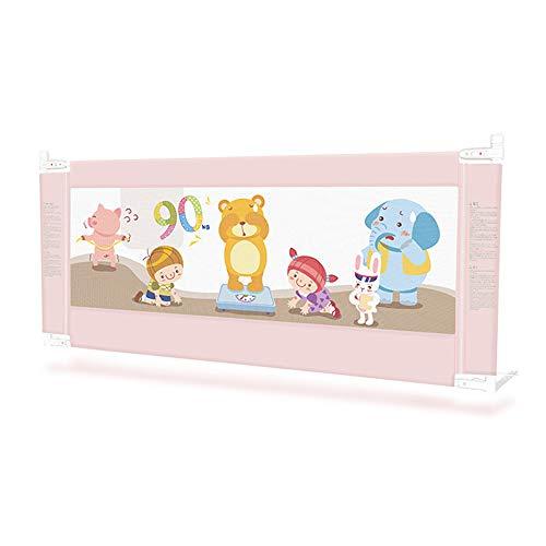 Barrières MAHZONG Rails de lit King Size adaptés aux Lits de lit d'enfant Pliables pour Enfants (Couleur: Rose, Taille: 150cm, 180cm, 200cm) (Taille : L-200cm)