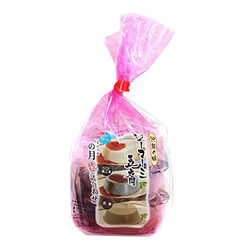 沖縄の味 ジーマーミ豆腐 琉の月 210g(70g×3種 黒糖 プレーン 黒ごま) ×1セット あさひ ピーナッツから作られたもちもちのデザート 濃厚な味わいとなめらかな舌触り 沖縄土産におすすめ
