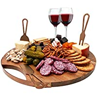 Choosy Chef Magnetic Cheeseboard With Serving Utensils