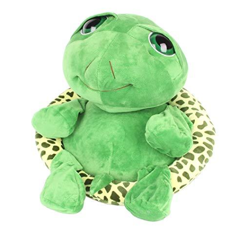 FeiWen Peluche Ojos Grandes Tortuga Juguete Verde Tortuga Juguete Animal de Peluche Suave (35-cm)