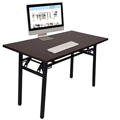 Fantastic Prices! GOTDCO. Folding Computer Desk,Computer Writing Desk Two Storey Storage Space,Moder...