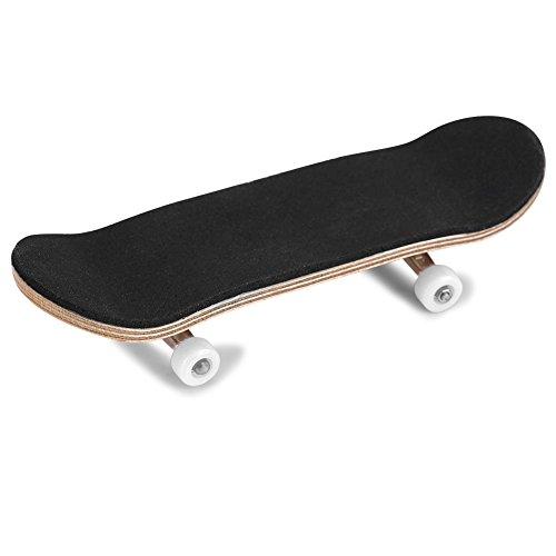 1PC Skateboard Ahornholz Legierung Griffbrett Finger Skateboards Mit PU rutschfestem Pad und Box Reduzieren Sie den Druck Kinder Geschenke Bausatz Finger Skateboard(Weiß)