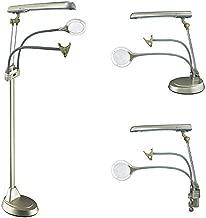 OttLite Ultimate 3-in-1 Craft Lamp, 24 Watt, Floor Lamp, Table Lamp, Clamp-On Lamp, Champagne