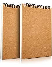 Mamowla Carnet de Dessin A5 Sketchbook, Reliure Spirale Papier Dessin Cahier de Dessin avec Carton dur Durable, 160GSM Carnet de Croquis Papier Dessin avec Livre de Dessin sans Acide 60 Pages