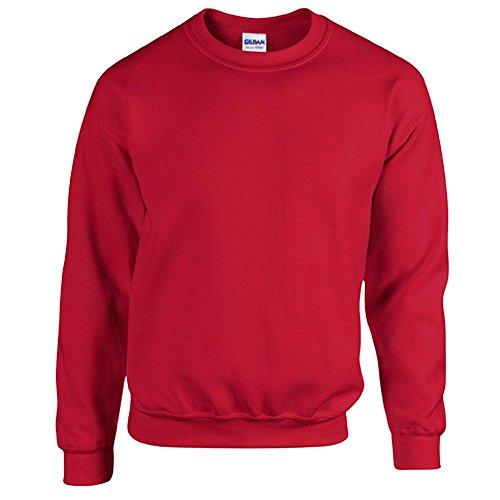 Gildan Heavy Blend Erwachsenen Crewneck Sweatshirt 18000 L, Cherry Red