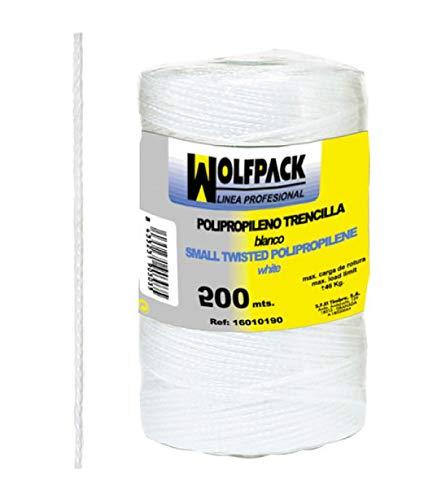 WOLFPACK LINEA PROFESIONAL 16010130 Cuerda Trencilla Polipropileno Blanco (Bobina 200 Metros)