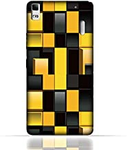 Lenovo A7000/Lenovo K3 Note TPU Silicone Case With Yellow And Black Blocks Pattern Design