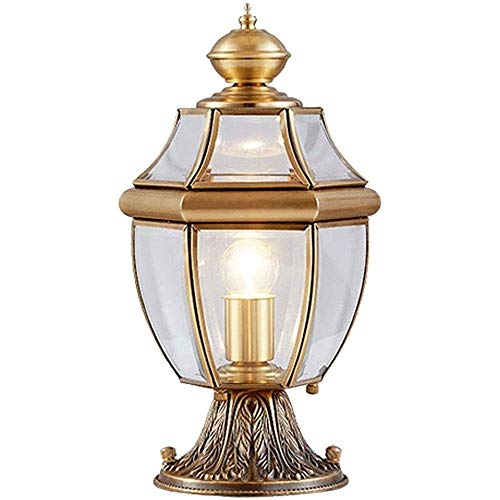 Suave, no deslumbrante Column headlight Columna Faro - Prevención de la antorcha luces de césped al aire libre con vistas al patio Villa Lámpara de jardín decoración exterior pilar poste de luz de la