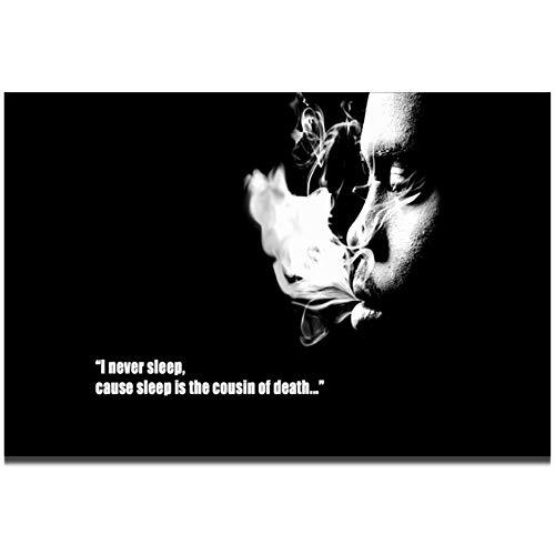 Smerige Nas Rap Muziek Zanger Rapper Star Wall Art Schilderij Canvas Poster Woondecoratie-60x90cmx1pcs- Geen Frame