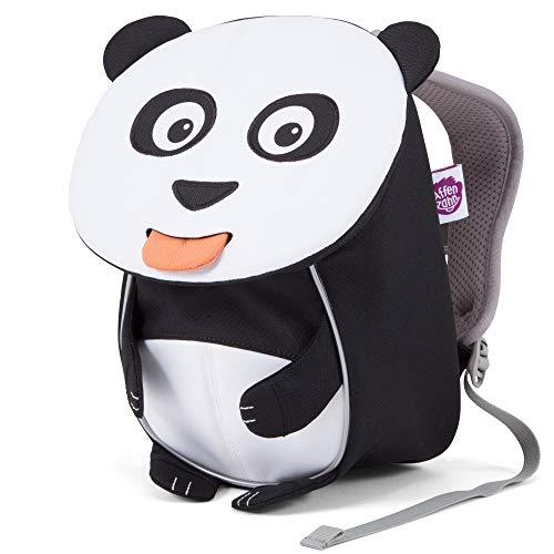 Affenzahn Kleiner Freund - Kindergartenrucksack für 1-3 Jährige Kinder im Kindergarten und Kinderrucksack für die Kita - Panda - Weiß