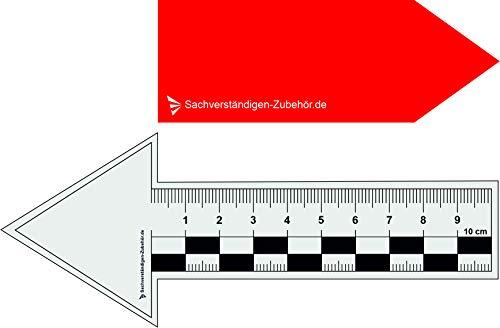 Spaltma/ß Risslineal /& Messwerkzeuge f/ür Immobilienbewertung Markierungsbox inkl 5 x Rissbreitenlineal Gutachter Ausr/üstung Wertgutachten Sachverst/ändiger| Magnet Lineal f/ür Kfz Wertermittler