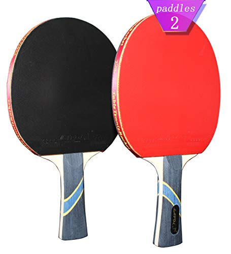 MAPOL 4 Star Professional Ping Pong Paddle Advanced Training Table Tennis Racket with Carry Case 2PCS
