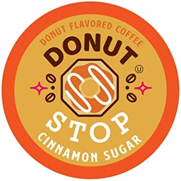 Donut Stop Coffee Flavored Coffee Pods Compatible with 2 0 K Cup Brewers Cinnamon Sugar 40 Count product image