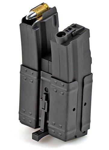 Nick and Ben Elektrisches Magazin Softair HighCap Doppel Magazin AEG Dual Battleaxe Hochleistungs Magazin 250-er für MP5 C36 Modelle