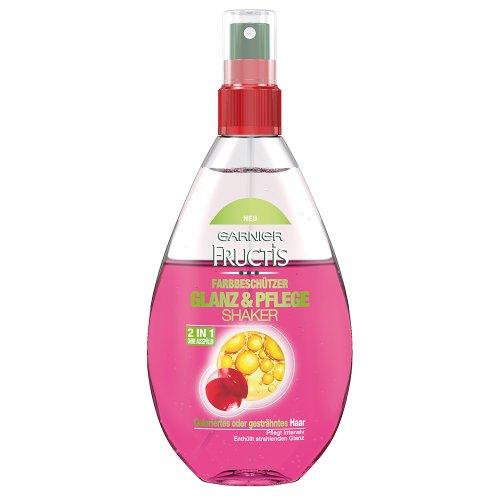 Garnier Fructis Farbbeschützer Glanz & Pflege Shaker Haarkur Duo-Effekt-Pflege ohne Ausspülen, 1er Pack (1 x 150 ml)