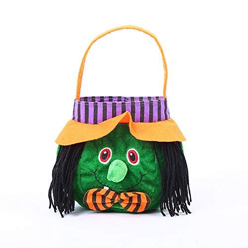 Jia Hu 1pc Halloween Party Maquillaje Traje Props Tela Tote Bag Halloween Tote Bag Niños Regalo Candy Bag