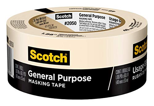 Scotch General Purpose Masking Tape, 1.88 inches by 60 yards, 2050, 1 roll