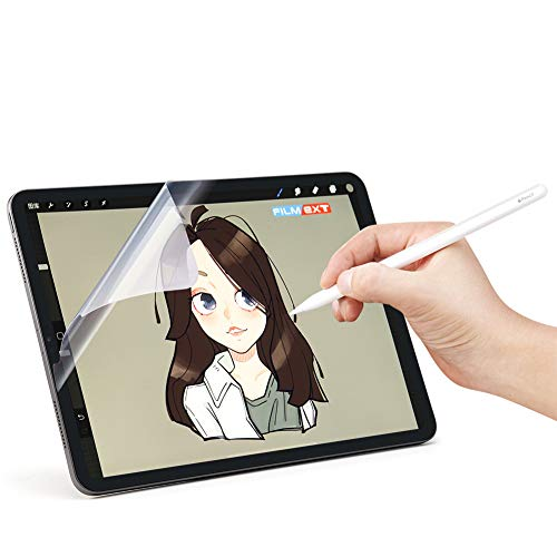 [2 Pack] 2018~2020 New for iPad Pro 12.9 inch PET Kent Paper Screen Protector [Anti-Glare] [Anti-Scratch] Same Like Writing On Paper [Apple Pencil Compatible] [Paper Film]