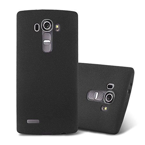 Cadorabo Custodia per LG G4 / G4 PLUS in FROST NERO - Morbida Cover Protettiva Sottile di Silicone TPU con Bordo Protezione - Ultra Slim Case Antiurto Gel Back Bumper Guscio