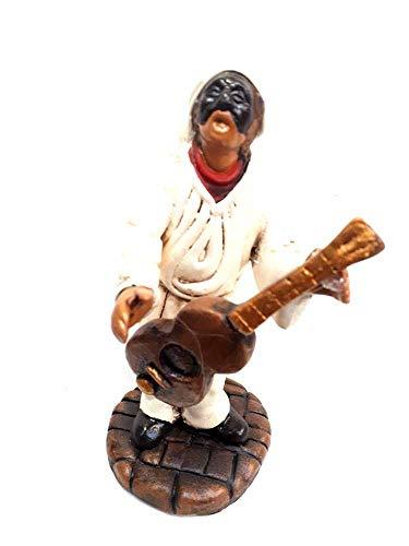 figura colonia guitarra Familia de los 12cm aprox. Terracota con diferentes posiciones y objetos por maestros artesanos de SAN gregorio armeno Tor belén SAN G. armenio ricevi Un llavero regal