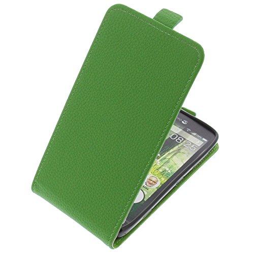 foto-kontor Tasche für Doro Liberto 825 Smartphone Flipstyle Schutz Hülle grün