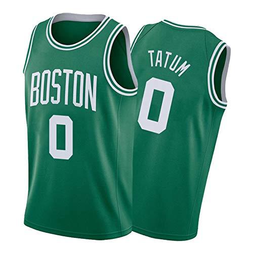 FGNB Celtics #0 Tatum - Camiseta de baloncesto para hombre, cómoda y transpirable, color verde S-XXL verde2-XXL