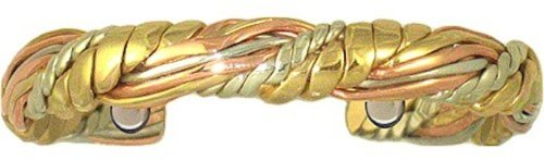 BillyTheTree Jewelry Honeysuckle - Sergio Lub Copper Magnetic Therapy Bracelet - Made in USA! (lub782)| Size| Large - 7 to 8 inches