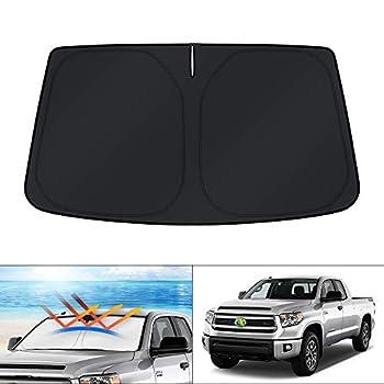 KUST Windshield Sun Shade for Toyota Tundra 2007-2021 Sunshade Sun Visor Protector Foldable Blocks UV Rays Keep Your Car Cooler