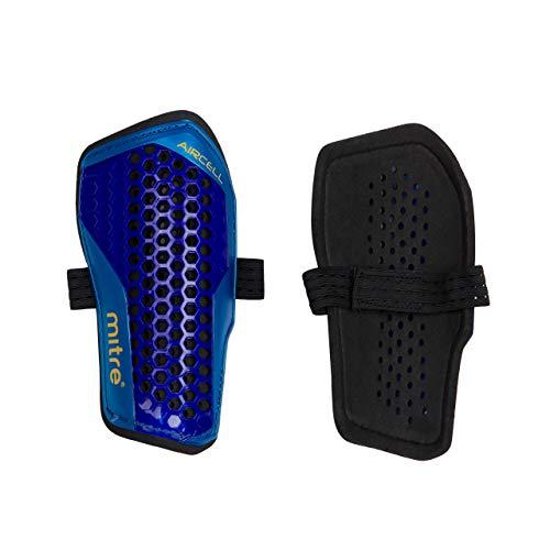 Mitre Schienbeinschützer Aircell Carbon Slip, Blau/Türkis/Gelb, XS, S70004BCY
