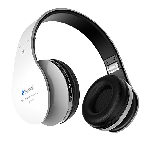 Wireless Headphones Aita BT809 on Ear Bluetooth Noise Cancelling Headphones, Foldable Headset Gaming Running Sport Earphones with Mic for iPhone, tv, Tablet, MP3 etc. Fit for Adults Teens Kids (White)