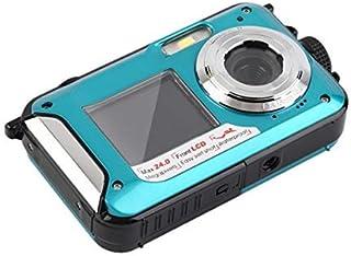 デジカメ 防水 防水カメラ デジカメ 水中カメラ デジタルカメラ スポーツカメラ HD1080P 24.0MP デュアルスクリーンオートフォーカス デジカメ 3m防水機能 水に浮く 説明書付き