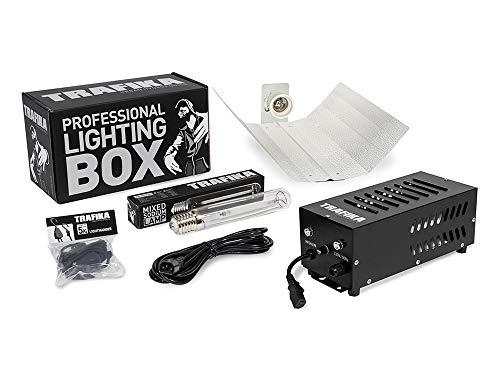 TRAFIKA - Kit LUMINARIA Cultivo Profesional 600W: BALASTRO Bombilla 4M Cable POLEAS Reflector/Kit ILUMINACION/Lighting Kit