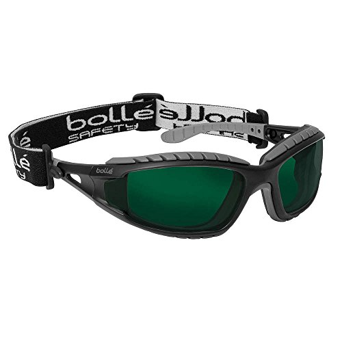 Bolle Safety Shade 5.0 Welding Safety Glasses, Scratch-Resistant, Black