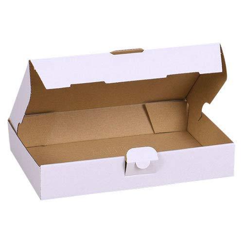 50x Maxibriefkartons Versandkartons Faltschachtel Faltkarton Maxibrief Karton 240 x 160 x 45, Weiß, MB-3