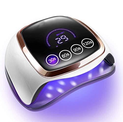 ZOUSHUAIDEDIAN Lámpara de uñas de la máquina, empapa del polaco del gel del clavo que cura el secador con 4 Temporizador Ajustes profesional de manicura pedicura Auto sensor de 42 granos del LED luces