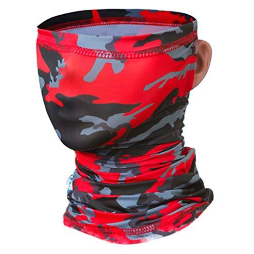 Huwaioury Unisex-Eis-Silk hängende Ohr-Kopfbedeckung Hals Gamasche Maske Radfahren Sunscreen Bandana