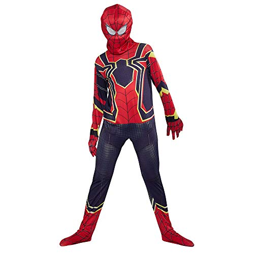 URAQT Disfraz de Spiderman, Halloween Mono de Superheroe de Cosplay, Disfraces de superhéroe para niños Spiderman, para Disfraces de Halloween-L