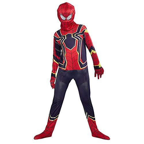 URAQT Disfraz de Spiderman, Halloween Mono de Superheroe de Cosplay, Disfraces de superhéroe para niños Spiderman, para Disfraces de Halloween-L