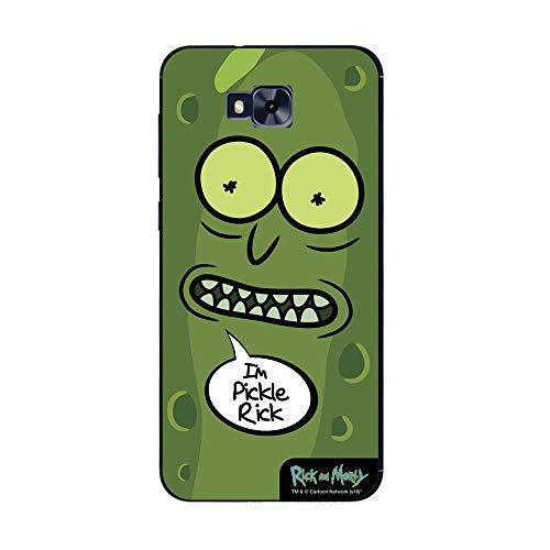 Capa Celular Pickle Rick and Morty Zenfone Z4 Selfie, Beek Geek's Stuff, Capa Protetora Flexível, Preta