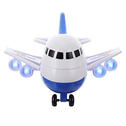 TOYANDONA Hucha para niños con forma de avión de aire electrónico, caja de monedas de plástico para ahorro de dinero, decoración...