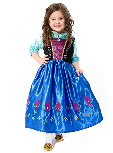 Little Adventures Alpine Princess Dress Up Costume (X-Large Age 7-9) Blue