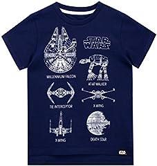 STAR WARS Camiseta de Manga Corta para niños La Guerra de Las Galaxias