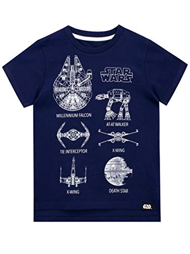 Star Wars Jungen T-Shirt Blau 122
