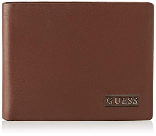 Guess - New Boston, Carteras Hombre, Marrón (Brown), 2.5x9.6x12.2 cm (W x H L)