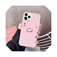 AuangaoカートゥーンスマイルフォンケースFor iPhone 12 Mini 11 Pro 7 XS MAX X SE 2020 X XR 6 8 Plus Candy Color Soft Silicone Cover Fundas-5-For iPhone 8 plus